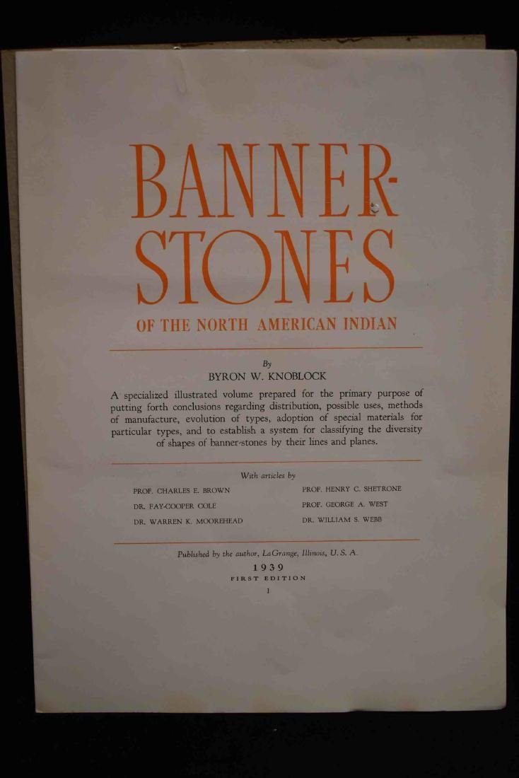 Knoblock Banner Stone of The North American Indian