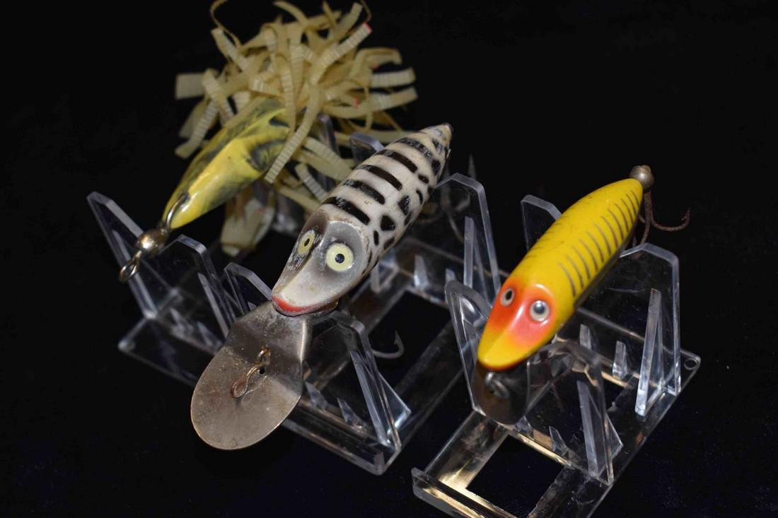 Lot of 2 Heddon Fishing Lures and 1 Web Foot