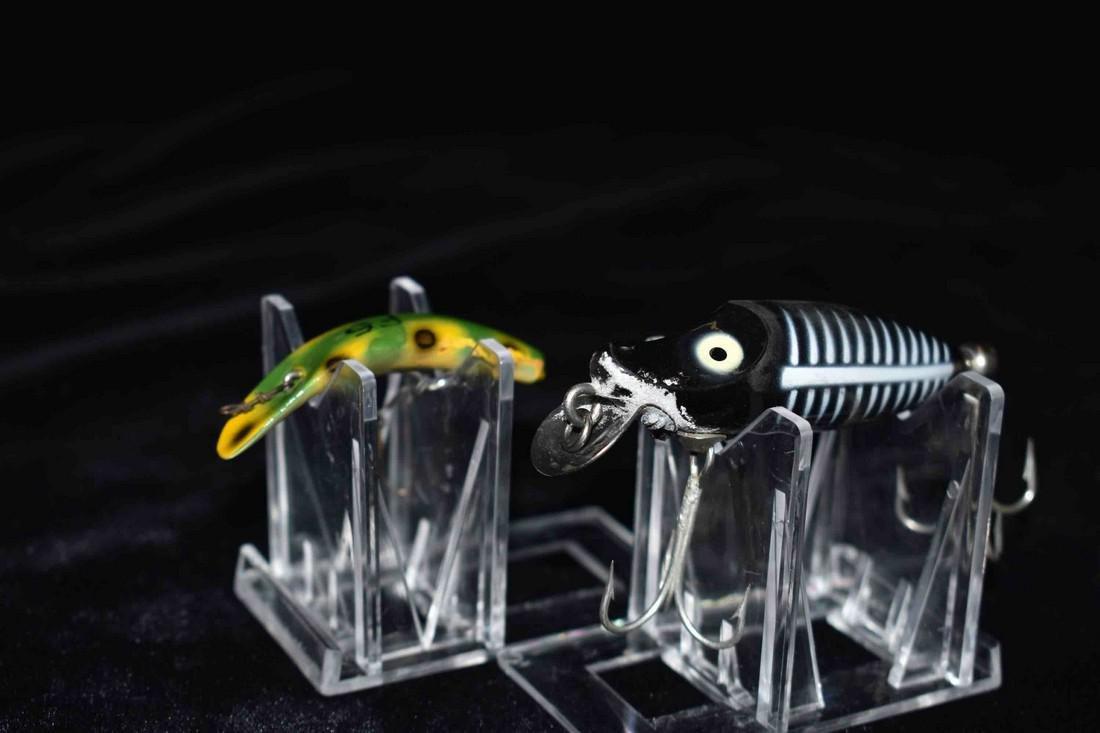 Lot of 1 Heddon and 1 Fly-Rod Flatfish Fishing Lure
