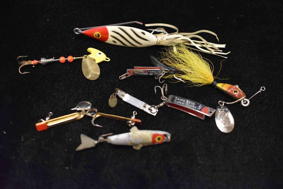 Lot of 8 Antique Fishing Lures