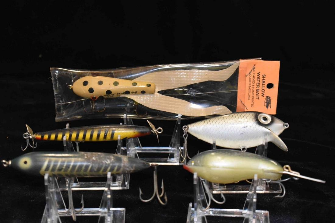 Lot of 5 Antique Fishing Lures