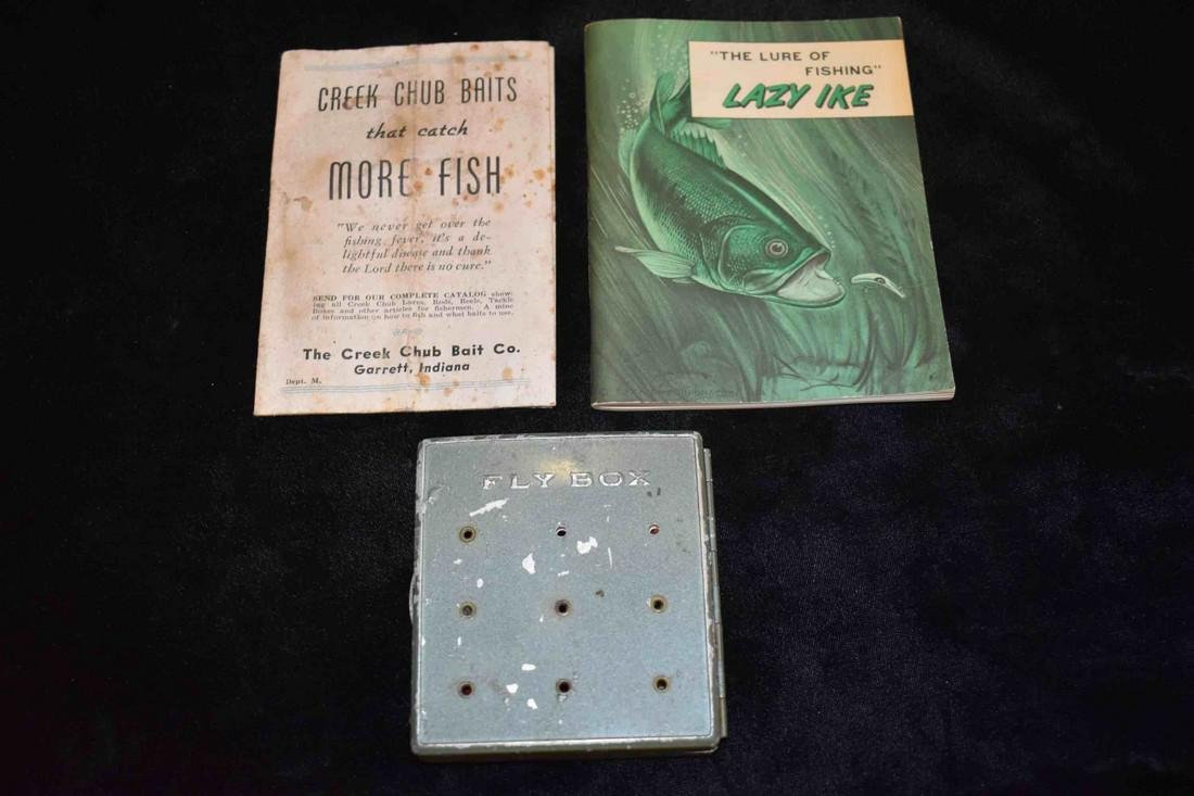 Lazy Ike Catalog And Fly Box Including Misc. Poppers &
