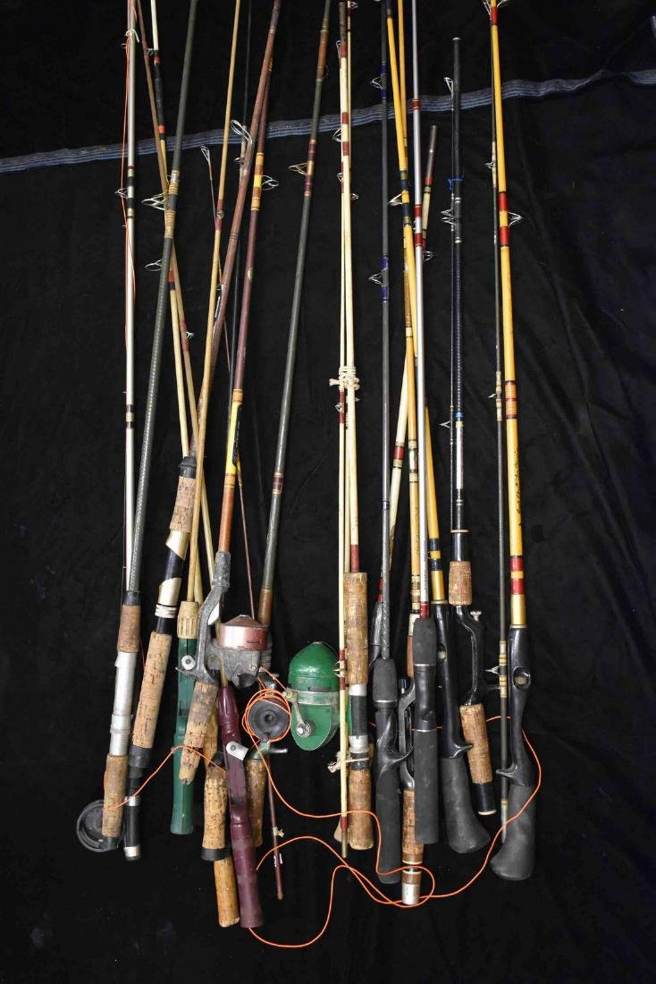 Large lot of Antique Fishing Rod & Reels