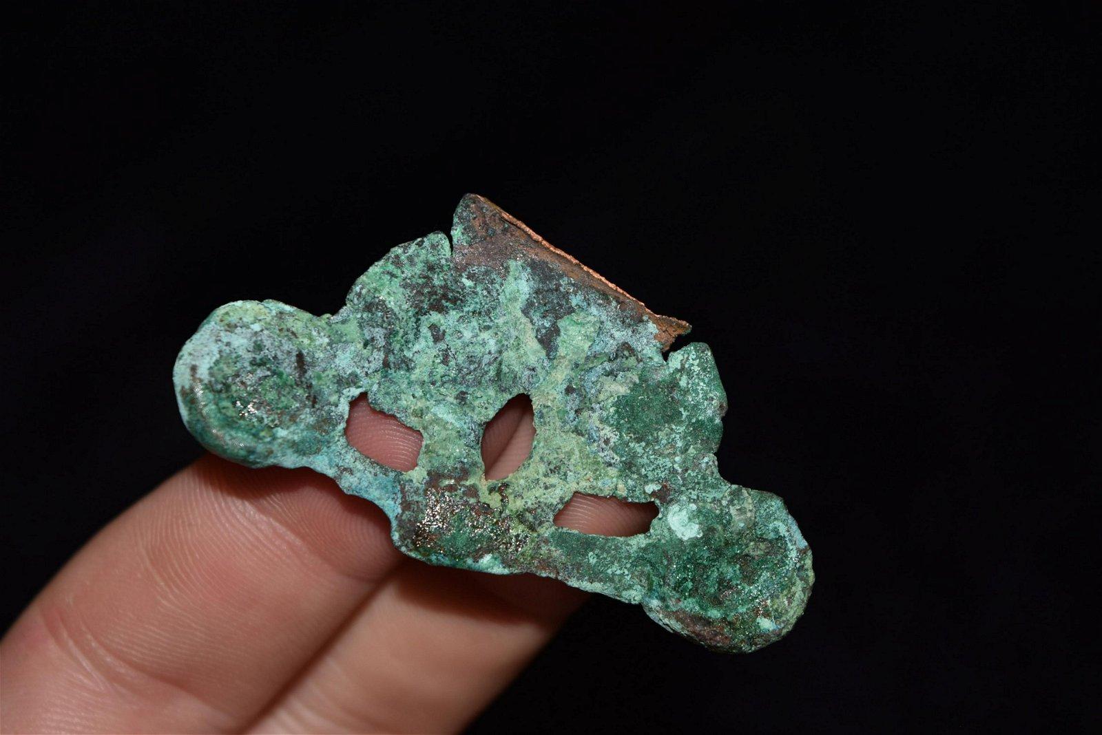 """2"""" Pre Columbian Copper Orniment"""