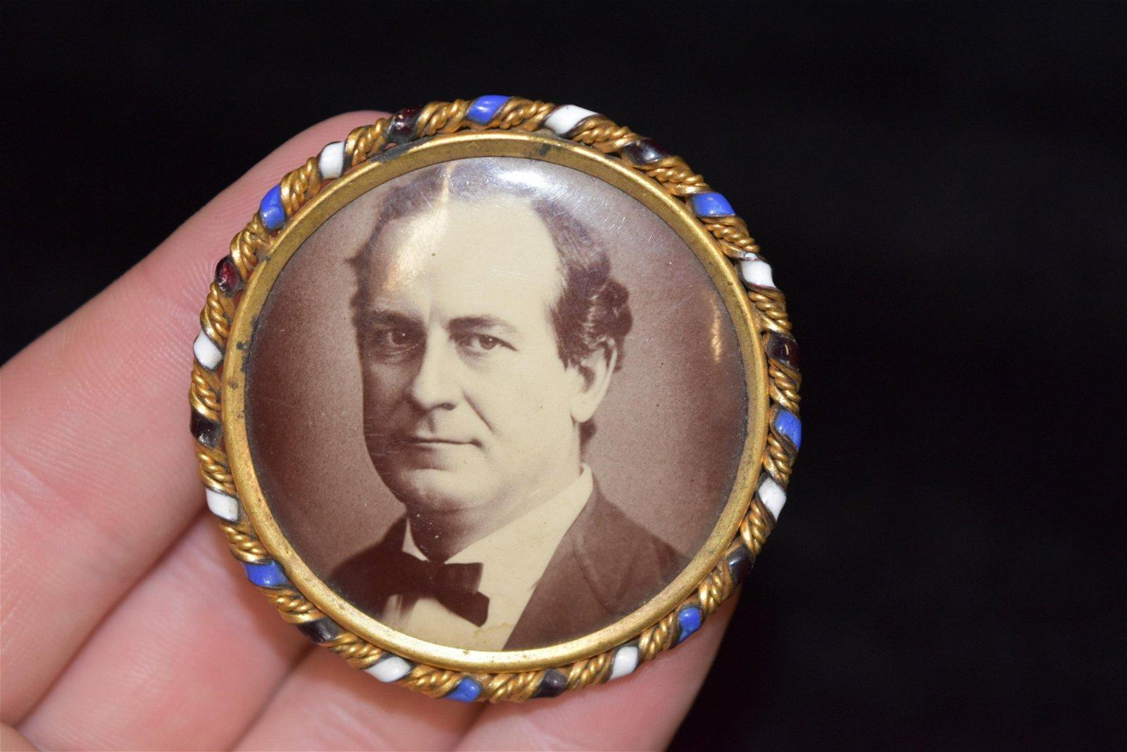 "Large 2"" Campaign Pin, William Jennings Bryan,"