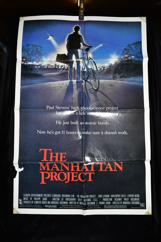 "Original ""The Manhattan Project"" Movie Poster, 1986"