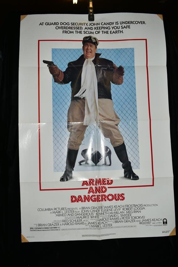 """Original """"Armed and Dangerous"""" Movie Poster, 1986"""
