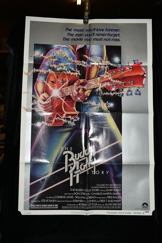 "Original ""The Buddy Holly Story"" Movie Poster, 1979"