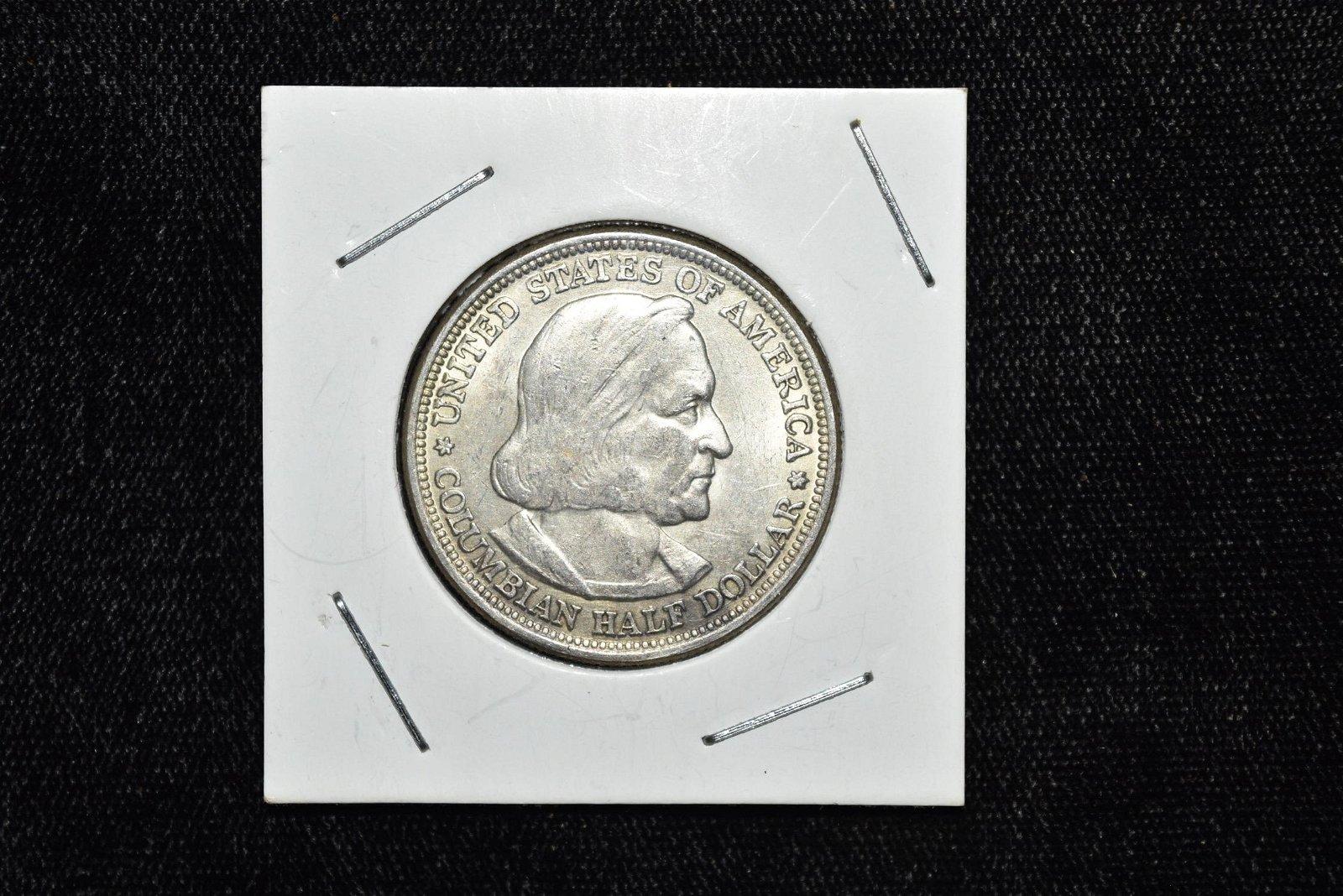 1893 Columbian 1/2 Dollar, Silver