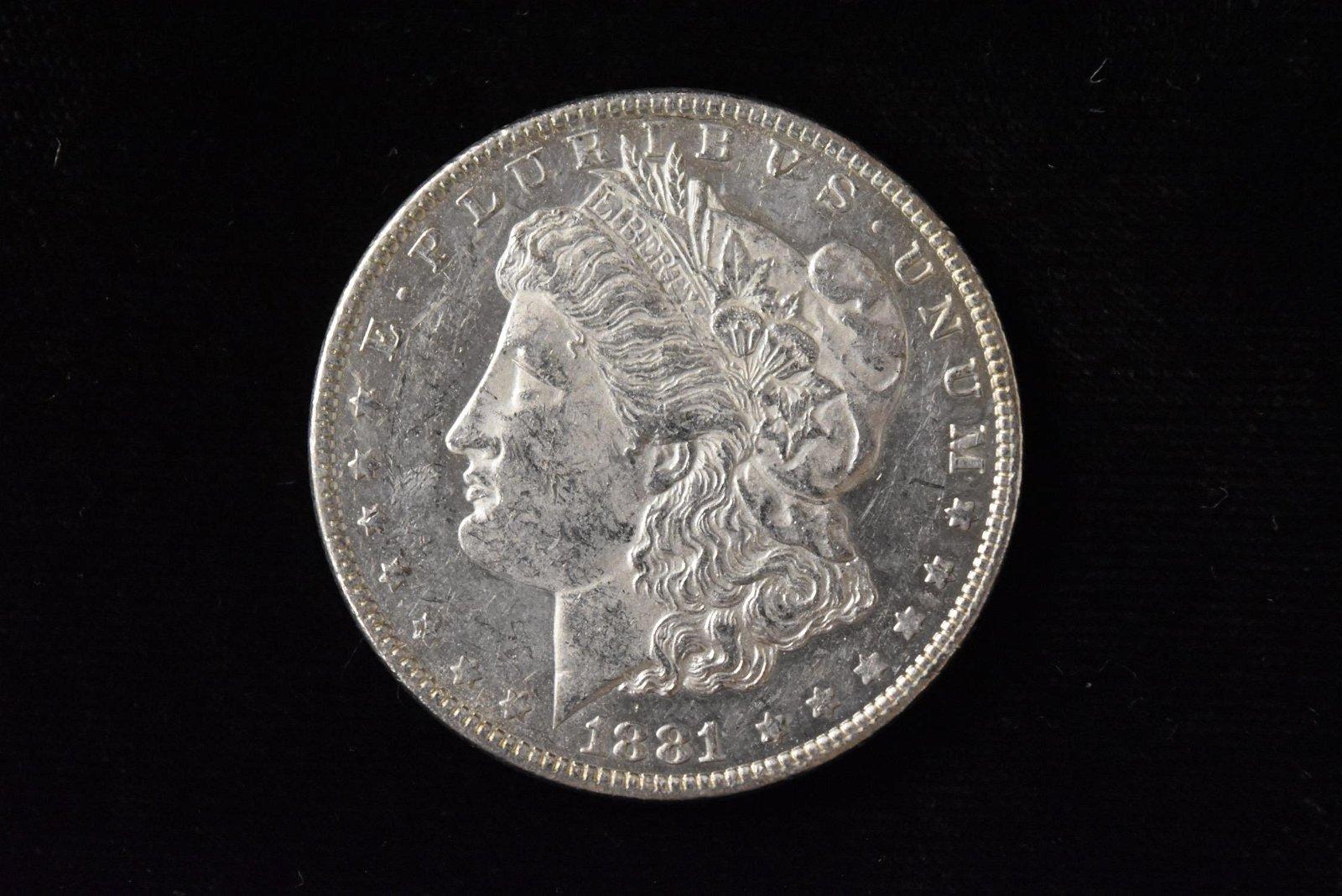 1881 High Grade Morgan Silver Dollar Grade By Picture.