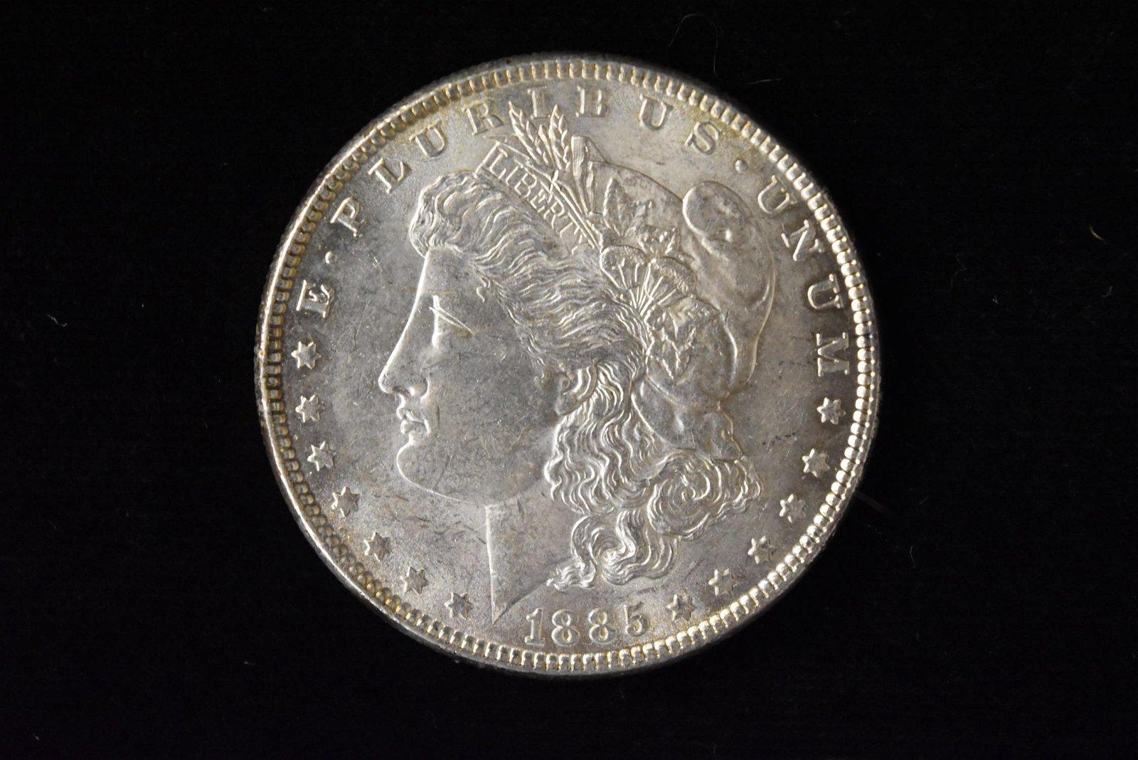 1885 High Grade Morgan Silver Dollar Grade By Picture.