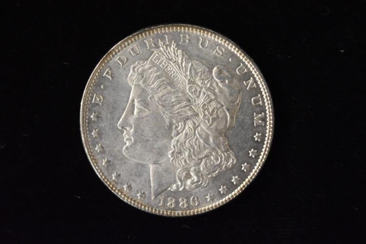 1886 High Grade Morgan Silver Dollar Grade By Picture.