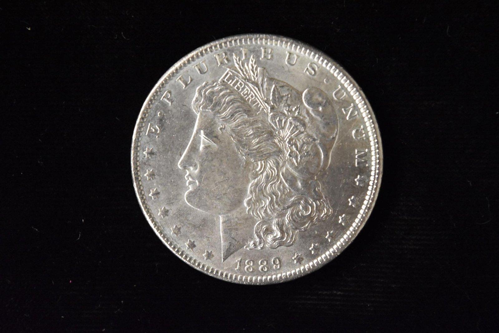 1889 High Grade Morgan Silver Dollar Grade By Picture.