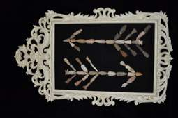 Original Collector Frame of Arrowheads Mark Nelson
