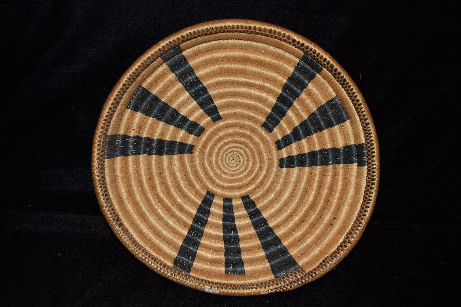 Native American Reed Style Basket, Donny Austin