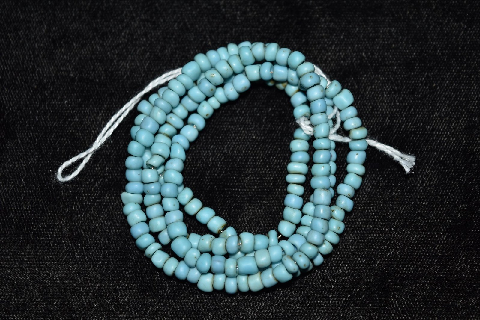 """22"""" Strand of Blue Historic Trade Beads,"""