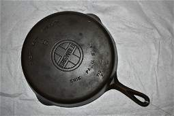 9 Griswold Large Logo Smooth Bottom Cast Iron Skillet