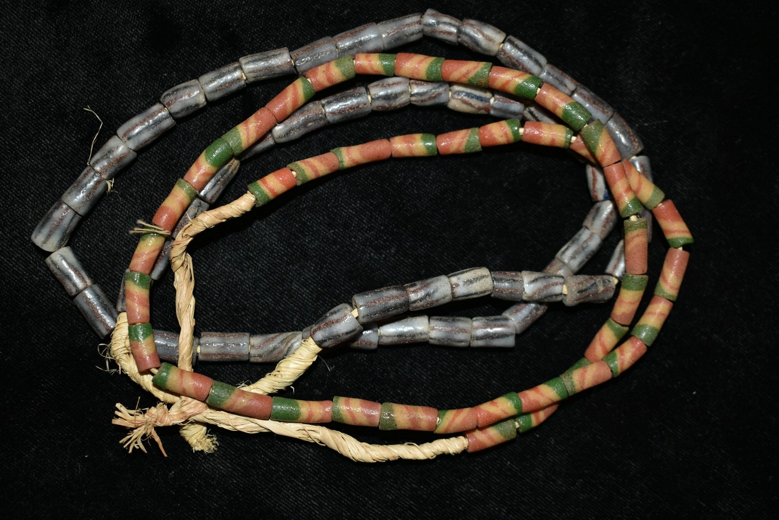 """Lot of 2 16"""" Strands of African Sandcast Beads"""