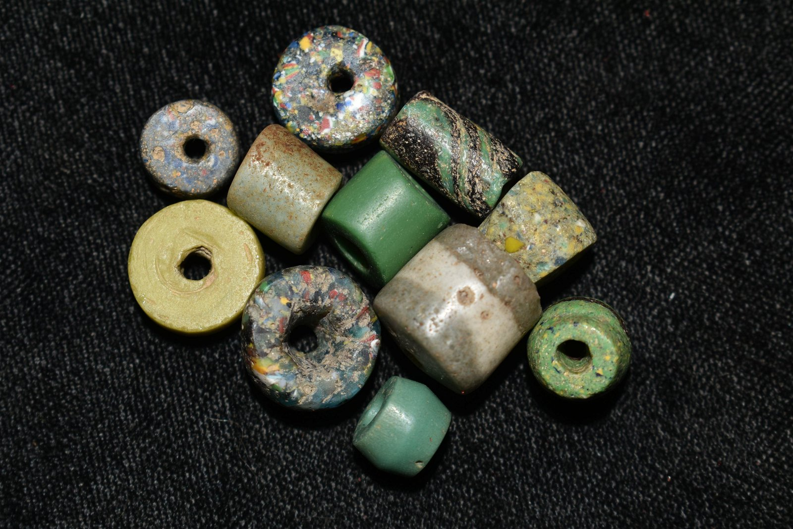 Lot of 11 Historical Trade Beads