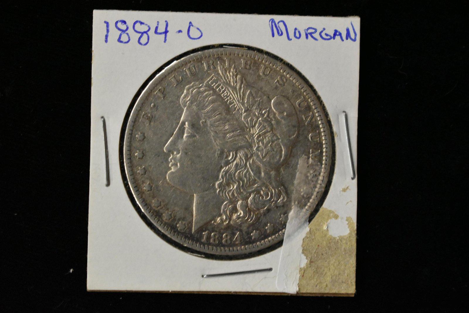 1884-O Morgan Silver Dollar, Key Date Coin