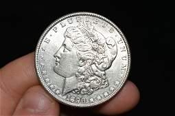 High grade 1890 Morgan silver dollar Please use