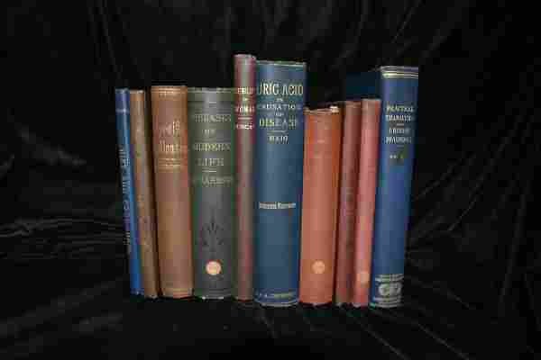 10 Antique Medical Books 1800's