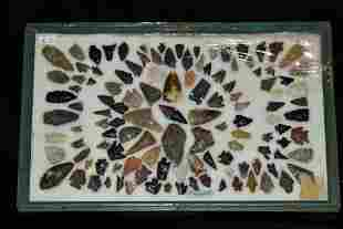 """18"""" x 11"""" Frame Containing Approximately 50 Obsidian"""