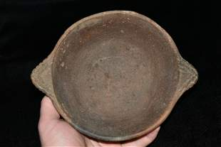 "7 1/4"" Engraved Pottery Bowl found in Scott Co.,"