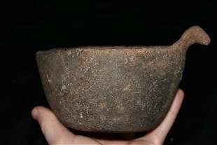 """6 1/4"""" Rim Rider Effigy Bowl found in Scott Co.,"""