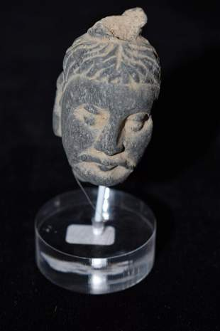 A fine Gandharan stone head from the Indus Valley, ca.