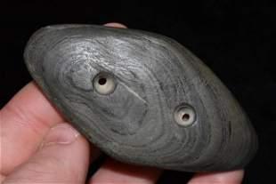 "3 3/16"" Gorget, Dickey COA, found in Indiana/Ohio Area,"