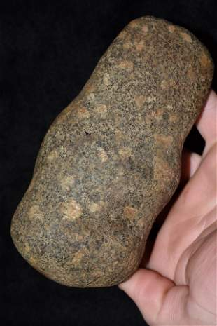 """5 1/2"""" Full Groove Porphyry Axe found in Brown Co., IL"""