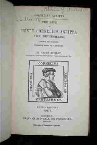 1856 The Life of Henry Cornelius Agrippa 1st Ed