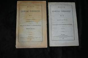 1882 HINTS OF ESOTERIC THEOSOPHY 1st Ed