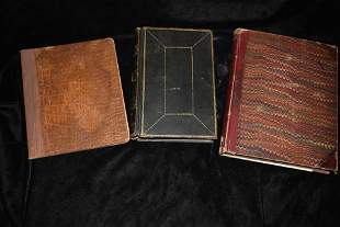 1800's Leather Notebooks (3)