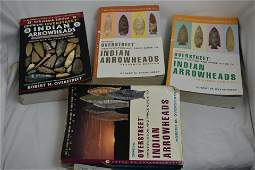 Lot of 4 Arrowhead Identification Guides, Robert M.