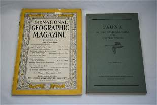 Lot of 2, 1946 National Geographic Magazine and Fauna