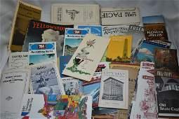 Lot of Vintage California/ West US Travel Brochures/