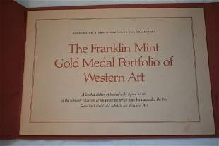 The Franklin Mint Gold Medal Portfolio of Western Art,