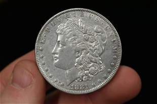1881-O NEW ORLEANS MINT MORGAN SILVER DOLLAR, ONE ONCE