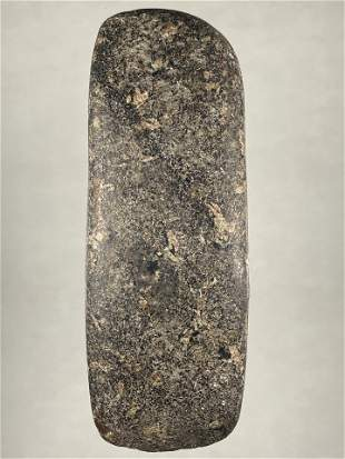 """5 3/4"""" LONG DANISH BOAT AXE, VERY WELL SHAPED AND"""