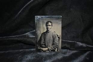 Civil War Era Tin Photo of a Free Man