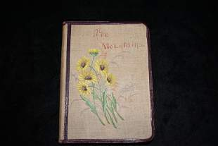 1876 THE MOUNTAINS, A COLLECTION OF POEMS 1st Ed