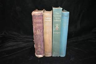 4 Antique 1800's 1st Ed Books