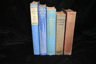 5 1900's Antique 1st Edition Books