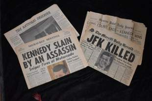4 JFK Assassination 1963 Newspapers