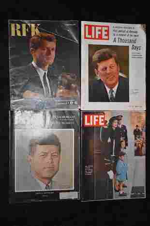 John F. Kennedy Collection of Magazines 1963-1968