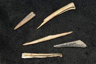 Lot of Bone Awls, Hickman Co. Kentucky