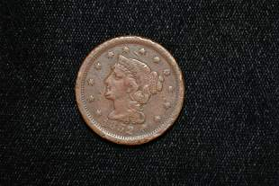 1852 Large Cent, Early US Coin