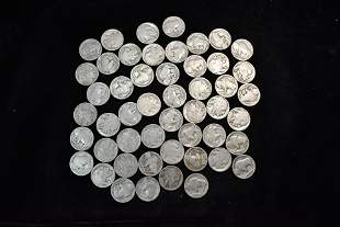 Lot of Approximately US 50 Buffalo Nickels